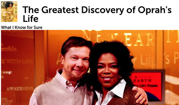 From Oprah.com, Oprah and her guru, Eckhart Tolle.