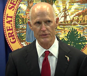 Florida Gov. Rick Scott announces his school safety proposal at the Florida Capitol in Tallahassee, Florida Feb 23, 2018 (Video screenshot).