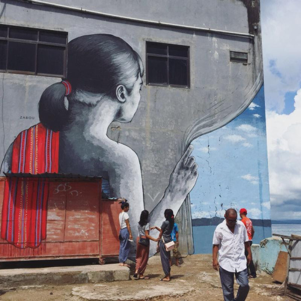 Indonesia where jewish artists must tread carefully for Mural indonesia