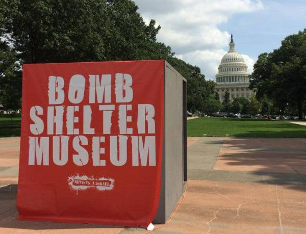 "Portable ""Bomb Shelter Museum"" by Artists 4 Israel. Photo permission of A4I"