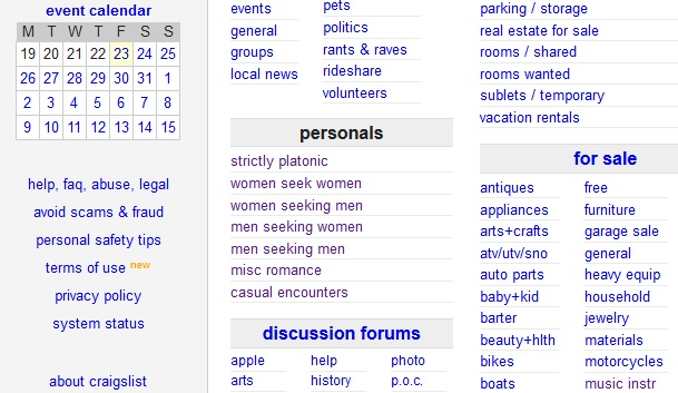 How to find women for sex on craigslist