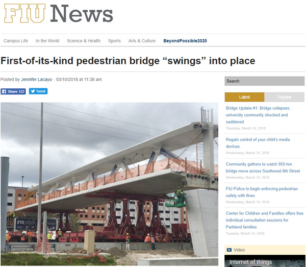 Multiple Deaths As New Pedestrian Bridge Collapses In Florida