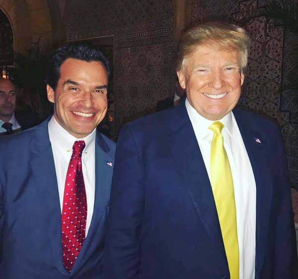 Antonio Sabato Jr. and President Trump