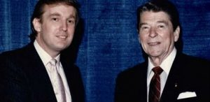 Donald Trump and President Ronald Reagan