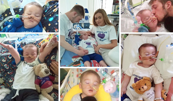 Alfie Evans and his parents (Photo: Twitter)
