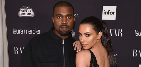 Grammy-winning rapper Kanye West and wife, TV reality star and fashion designer Kim Kardashian