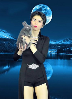 Nasim Aghdam posted this photo of herself on her website