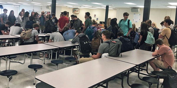 Twitter user Blake Barclay posted this photo of students from his school participating in the pro-life walkout Wednesday, April 11, 2018. He included the caption, 'So proud of the more than 60 students who participated in the #ProLifeWalkout from my high school. We are the #ProLifeGeneration' (Photo: Twitter)