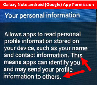 Rex Lee points out in warnings in screenshot of Samsung user agreement.