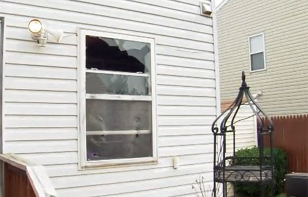 Maxine Thompson's broken window (Photo: Screenshot/Fox 29)