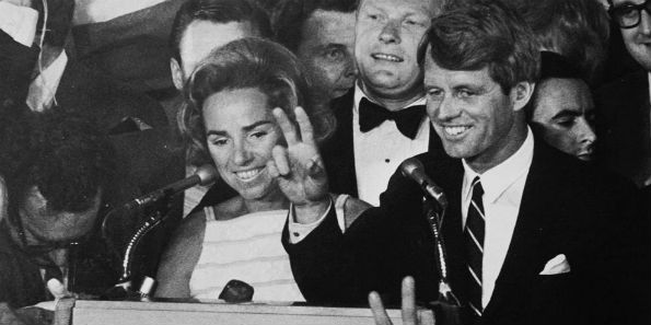 Bobby Kennedy spoke to supporters at the Ambassador Hotel in Los Angeles in the early morning hours of June 6, 1968, shortly before his was mortally wounded by an assassin.