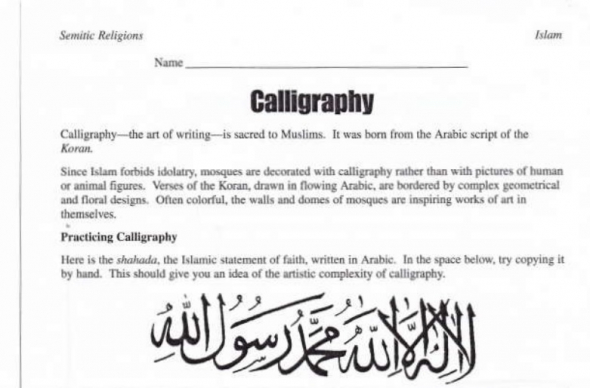 Islam assignment (Christian Post)
