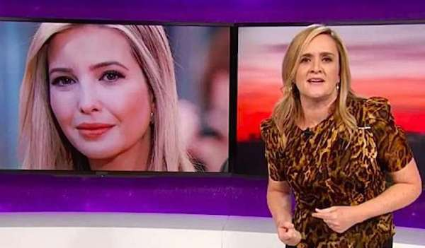 "Comedian Samantha Bee, right, insults Ivanka Trump on ""Full Frontal"" on TBS on Wednesday, May 30, 2018 (Screenshot)"