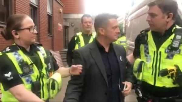 Tommy Robinson jailed for Facebook live reporting outside criminal trial in Britain