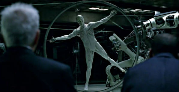 "Creation of a robot ""host"" in the HBO show ""Westworld"""