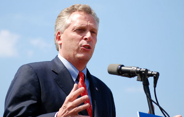 Virginia Democratic Gov. Terry McAuliffe