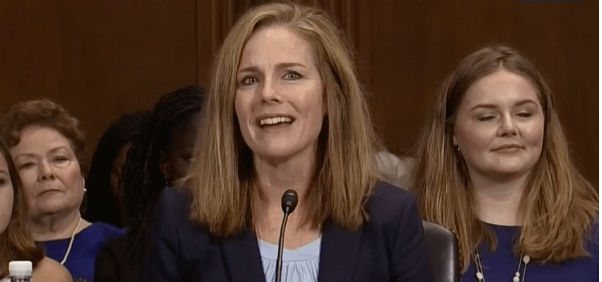 Judge Amy Coney Barrett testifies before the Senate Judiciary Committee Sept. 6, 2017 (C-SPAN screenshot)