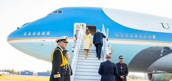 President Donald J. Trump and First Lady Melania Trump board Air Force One in Helsinki, Finland | July 16, 2018 (Official White House Photo by Shealah Craighead)