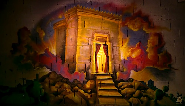 An artist's depiction of the Jewish Temple (video screenshot)