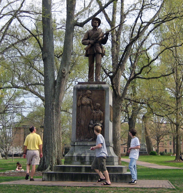 "Memorial to Confederate soldiers, ""Silent Sam""Photo: Yellowspacehopper/Wikipedia"