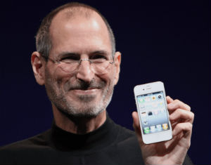 Apple founder Steve Jobs introduced iPhone 4 in June 2010 ( Matthew Yohe/Wikimedia Commons)