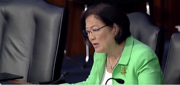 Sen. Mazie Hirono, D-Hawaii, in a Senate Judiciary Committee hearing July 31, 2018 (Video screenshot)