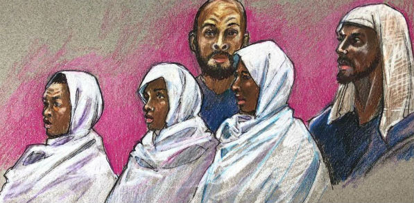 Five Muslims were in court Aug. 13, 2018, in Taos, New Mexico, accused of abusing 11 children and training them for school shootings.