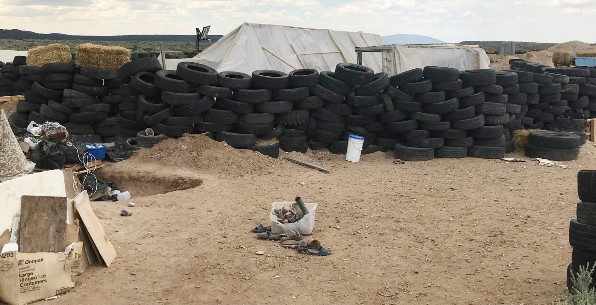 New Mexico compound where five Muslims were arrested and accused of training children to carry out terrorist attacks on schools.