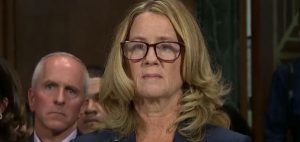 Christine Blasey Ford prepares to testify before the Senate Judiciary Committee Sept. 27, 2018