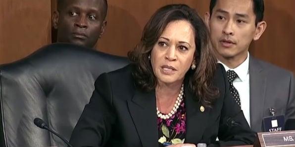 Sen. Kamala Harris, D-Calif., moves to adjourn the opening hearing for Supreme Court nominee Brett Kavanaugh Sep. 4, 2018
