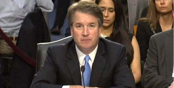 Judge Brett Kavanaugh testifies before the Senate Judiciary Committee (Video screenshot)