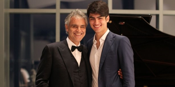 Andrea Bocelli and son. Ban them! Bring down the patriarchy!