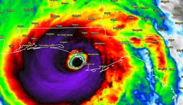 Hurricane Michael water vapor as it makes landfall on Oct. 10, 2018