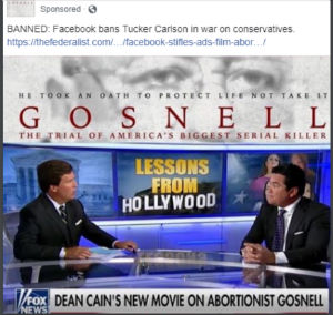 'Gosnell' filmmakers say Facebook refused to 'boost' this post to promote the movie.