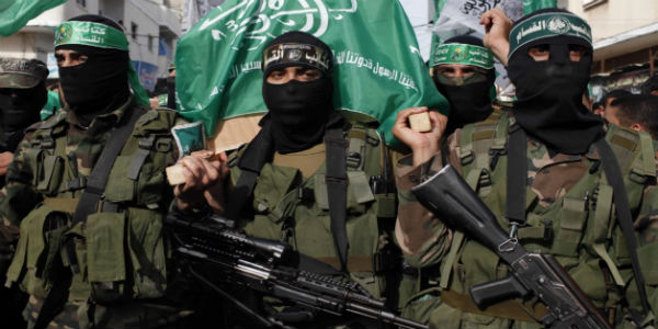 Hamas terrorists (Wikimedia Commons)