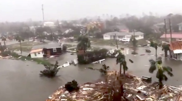 Damage from Hurricane Michael, Oct. 10, 2018 (ABC video screenshot)