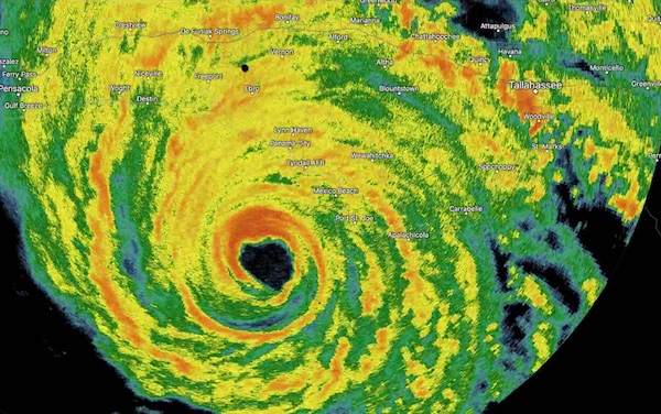 Hurricane Michael radar image