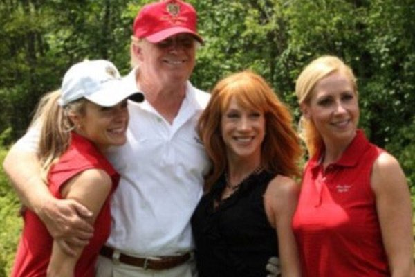 Kathy Griffin seen hugging Donald Trump in this undated photo (Twitter)