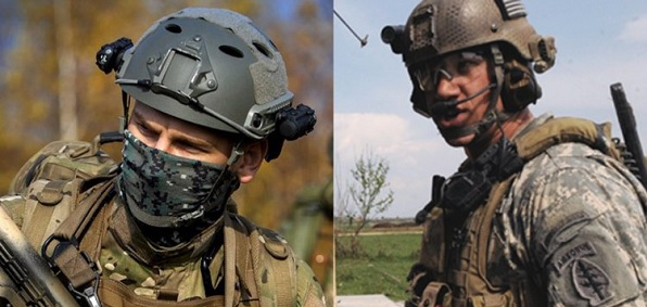 Russian and U.S. special forces