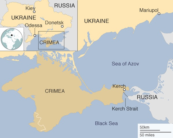 Ukraine claims Russian Federation  'rammed our tugboat' off Crimea
