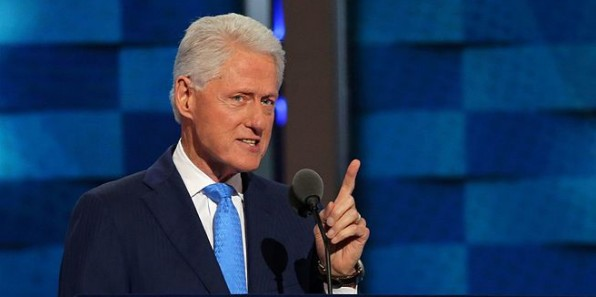 Bill Clinton speaks at the Democratic National Convention in Philadelphia in July 2016 (Wikimedia Commons)