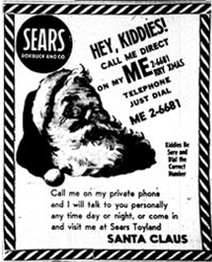 Sears ad with wrong number