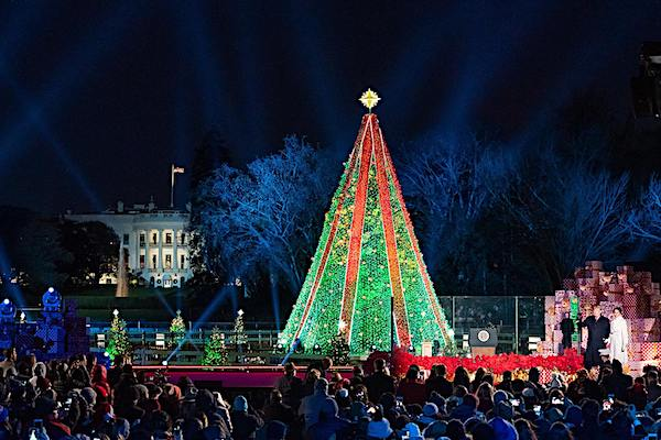 Lighting of the 2018 White House Christmas tree with President Donald Trump and First Lady Melanie Trump (White House photo)