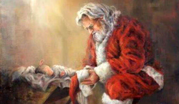 Facebook censors this image of Santa and the baby Jesus
