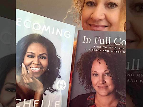 Rachel Dolezal shared a photo of her own memoir with that of Michelle Obama