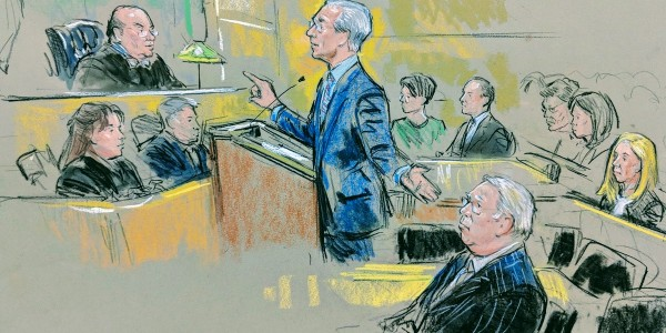 Klayman and Corsi in court.