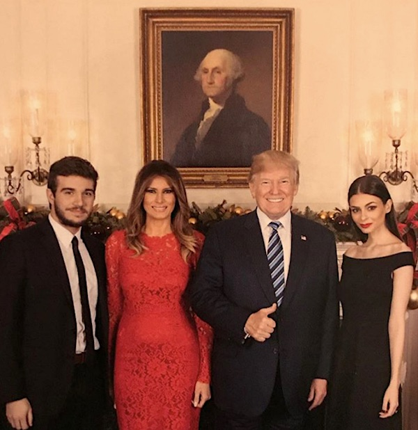 From right, Elizabeth Pipko, President Donald Trump, First Lady Melania Trump and Darren Centinello (Instagram)