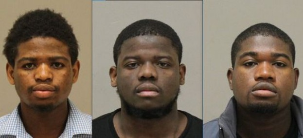 Muse Abdikadir Muse (left), Mohamed Salat Haji (center) and Mohamud Abdikadir Muse (Photos: Kent County Jail)