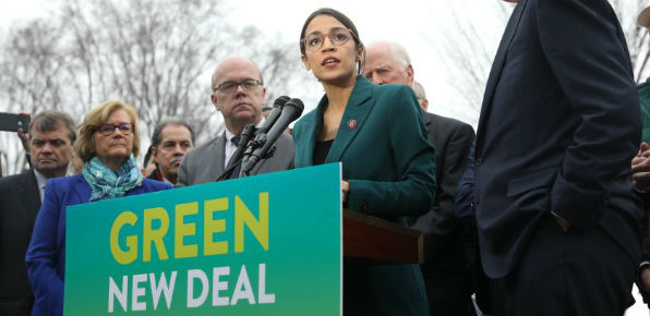 U.S. Rep. Alexandria Ocasio-Cortez, D-N.Y., introduces her Green New Deal (Wikimedia Commons)
