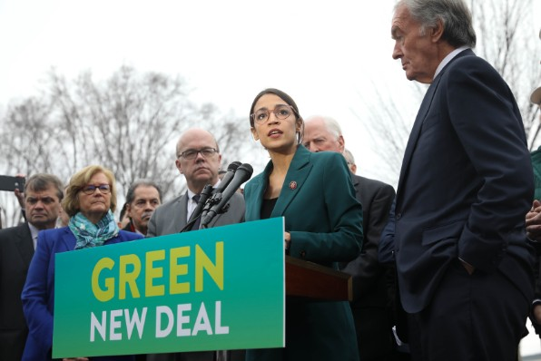 Rep. Alexandria Ocasio-Cortez, D-N.Y., introduces her Green New Deal (Wikimedia Commons)